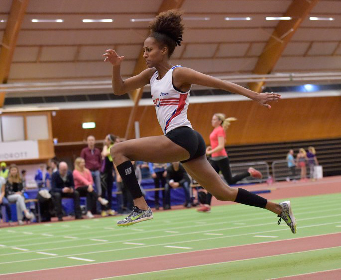 Adiam vann den kvinnliga tävlingen ifjol på 12.07m