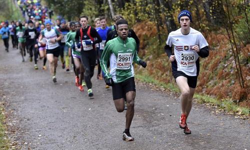 Gustav Westman är ny i löpargruppen.